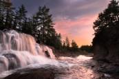 Moose River Waterfall at Sunset